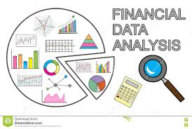 Financial Data Analysis Financial Data Analysis Concept On White Background Stock 1