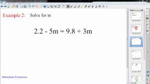 algebra solving equations with variables on both sides