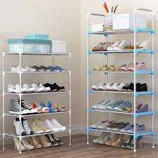 sneaker storage unit inspired simple fashion diy assembly metal iron shoes shelf student dormitory