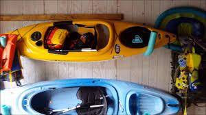 diy kayak wall hanger kayak storage