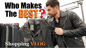 who makes the best leather jackets alpha m ping vlog