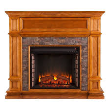 southern enterprises belleview electric media fireplace in sienna fe9333