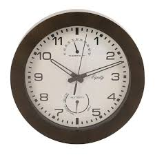image wall clock with thermometer and humidity 10
