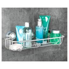 shower caddy basket rustproof aluminum turn n lock suction bathroom shower basket extra large shower basket