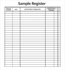 Check Register In Pdf Custom Excel Checkbook Register Template Business Check Cheque Format Issue