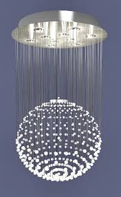 3d model of crystal modern chandelier rain drop light fixture available 3d file format max autodesk 3ds max texture format jpg