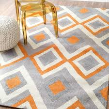 incredible mercury row isenberg hand hooked orangegray area rug reviews throughout orange and gray area rug