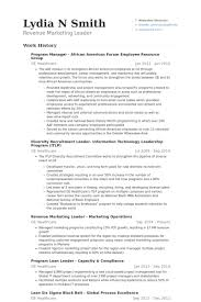 Program Manager African American Forum Employee Resource Group Resume  samples