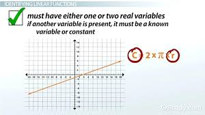 graphing linear equations definition math what is a linear function definition examples lesson transcript math