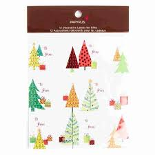 Christmas Tree Labels Modern Trees Holiday Gift Labels Set Of 12