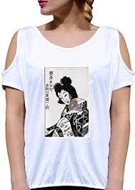 How To Draw Girl Shirts Jode T Shirt Girl Ggg27 Z1829 Japan Paper Draw Geisha Woman Fashion