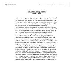 descriptive writing essay