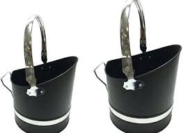 coal bucket chrome black small large ash fireplace with lid pleasant hearth