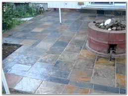 laying ceramic tile on concrete patio ideas