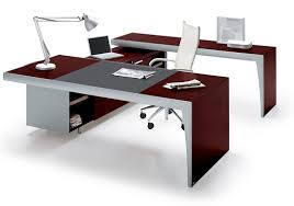 best office table. Furniture, Pleasing Red Sensation With White Armchair For A Grey Table Lamp Futuristic And Modern Best Office