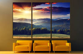 majestic sunset in the mountains landscape dramatic sky 2681 ready to hang canvas on 3 piece wall art mountains with majestic sunset in the mountains landscape dramatic sky 2681