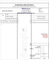 Example Of A Invoice Sample Painting Invoice 6 Examples In Pdf Excel Word