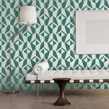 wall stencil geometric allover pattern jacqueline for room diy decor large size