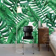 southeast asia wallpaper tropical rainforest wall mural banana leaf 3d wallpaper for walls bedroom living room