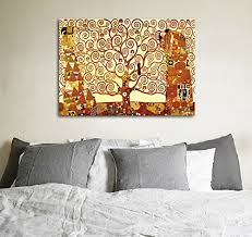 wieco art tree of life giclee canvas prints gustav klimt artwork oil paintings reproduction pictures to photo printed on canvas wall art for home and  on canvas wall art tree of life with wieco art tree of life giclee canvas prints gustav klimt artwork