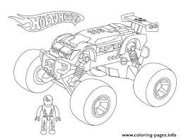 Small Picture Hot Wheels Monster Truck Coloring Pages Printable