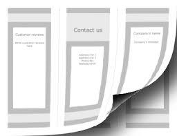 Printable Blank Brochure Trifold