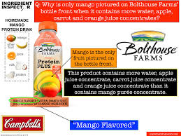 ing inspector cbell s bolthouse farms mango protein plus has more water apple carrot and orange