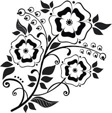 花のイラスト花束白黒モノクロ無料のフリー素材集百花繚乱