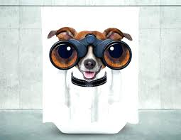dog shower curtain hooks super cool shower curtains to transform your bathroom today dog shower curtain