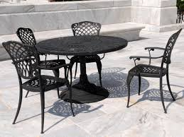 black wrought iron patio furniture