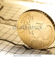 Euro Cent On Newspaper Chart Stock Photo Edit Now 31655581