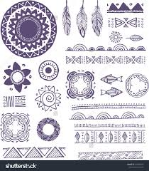 Tribal, Boho, Bohemian Mandala background with round ornaments, patterns  and elements. Hand drawn vector illustration - buy this stock vector on ...