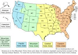 Time Map Us Time Zones And Current Times