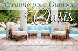 create an outdoor oasis with outdoor rugs pillows and accessories