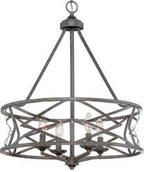 lakewood antique silver iron drum pendant light 21 wx26 h