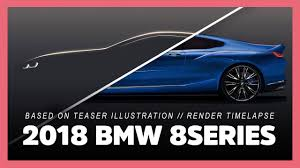 2018 bmw two door. interesting 2018 2018 bmw 8series and m8 based on teaser illustration photoshop render  timelapse preview with bmw two door