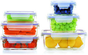 glass set food storage containers