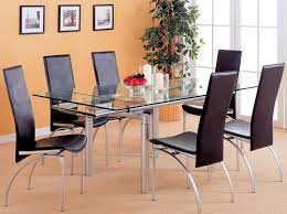 12 Photos Gallery of: Ideas to Make a Base Rectangle Glass Dining Table