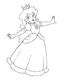 Small Picture Princess Peach Coloring Page fablesfromthefriendscom