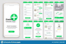 Design Of Screen Design Of Mobile App Ui Ux Gui Stock Vector