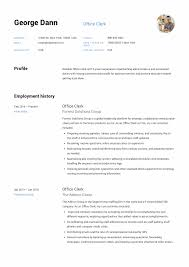 12 Office Clerk Resume Sample S 2018 Free Downloads