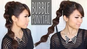 You Tube Hair Style bubble ponytail hairstyle medium to long hair tutorial youtube 3762 by wearticles.com