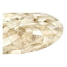 round cowhide rug patchwork beige circle diamond fur home