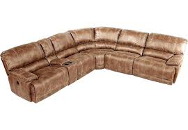rooms to go sofas stetson ridge brown 6 power reclining sectional sectionals with regard to sofas