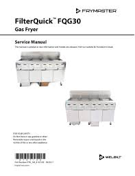 welbilt spain product filterquick gas service manual