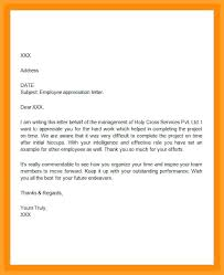 Appreciation Letter Sample Template Mesmerizing Employee Appreciation Letter Sample Letters For Hard Work Buydealco
