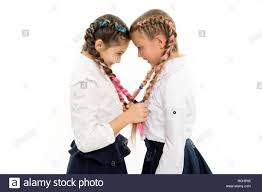 Small Girl Children With Perfect Hair Childhood Happiness