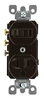 leviton 5245 15 amp 120 volt duplex style 3 way ac combination leviton 5245 15 amp 120 volt duplex style 3 way ac combination switch receptacle commercial grade grounding ivory wall light switches amazon com