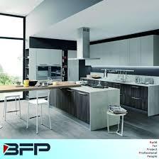 customized melamine kitchen with quartz countertop