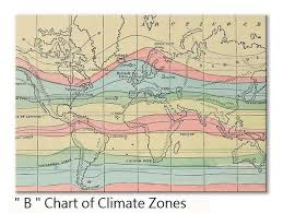 World Climate Zone Chart Climate Change Vintage World Ocean Climate Map Placemats Tactile Basket Texture Turned Hem Edges Waterproof Non Slip Wipe Clean